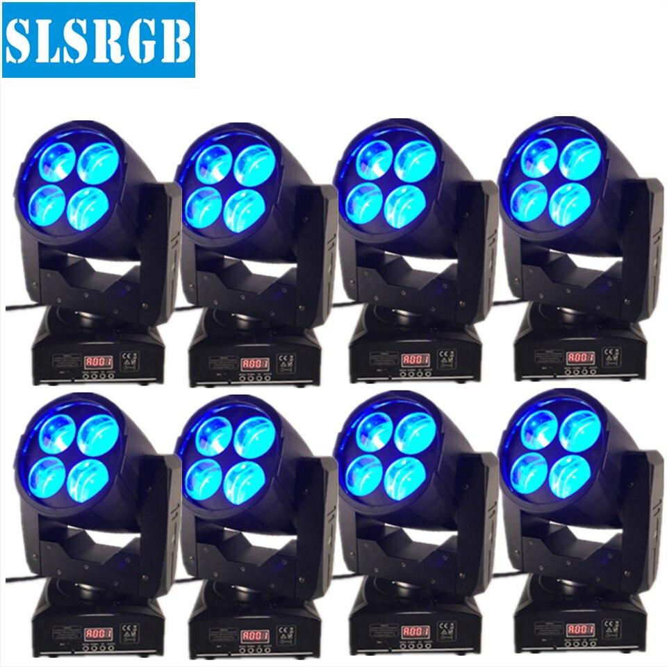 8PCS/LOT disco club led 4x10W super beam moving head led stage light GY-X4 4*10W mini super beam LED Moving Head Lights