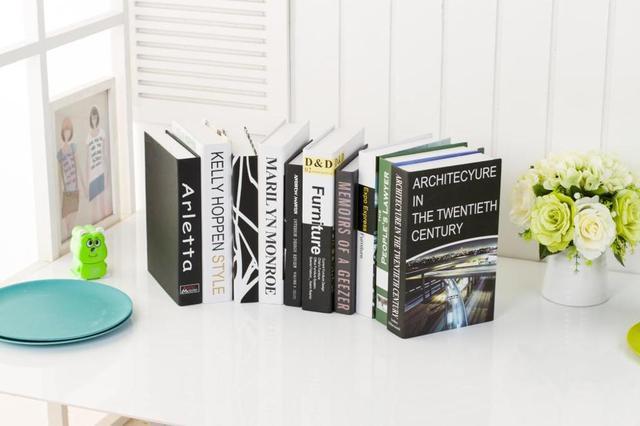 Stks nep boek moderne decoratieve props simulatie kamer kantoor