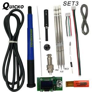 Image 3 - QUICKO controlador Digital de temperatura T12 STC OLED, estación de soldadura de hierro, panel de pantalla de soldadura aplicable a puntas HAKKO T12