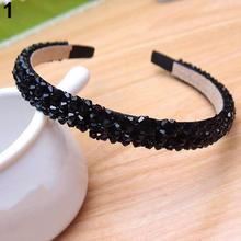 Женские милые шикарные искусственный камень резинки для волос украшение для волос в виде цепи ювелирные изделия