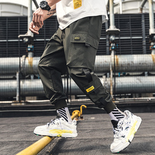 2019 Fashion Cargo Pants Men Hip Hop Style Big pocket Widge Leg Pants Men Harem Pants цена