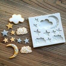 Aouke Звезда Луна Форма силиконовая форма DIY помадка торт плесень клейкий Шоколад Форма выпечки прибор