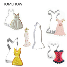 Woman Lady Clothing Dress Cookie Cutter Set 3/4/5PCS/ Set Stainless Steel Fondant Cookie Cutting Tools Biscuit Baking Tools