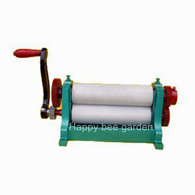 Manual 310mm beeswax  foundation sheet press roller machine