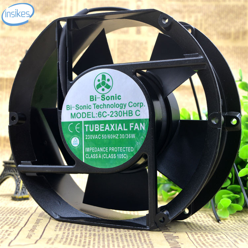 все цены на DHL Free 6C-230HB C AC 230V 0.14A/0.16A 30/36W 3400RPM 17251 17cm 172*150*51mm 2 Wires Axial Cooling Fan онлайн