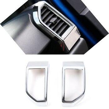 ABS Chrome Batin Udara Depan Vent Outlet Cover Trim 2 Pcs untuk Ford F150 F-150 15-19