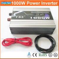 Авто Мощность преобразователь 1000 Вт 1KW Чистая синусоида Инвертор постоянного тока до 12 В 220 В с USB для Тетрадь ноутбук адаптер