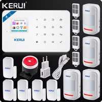 Kerui W18 bezprzewodowy Wifi GSM systemy alarmowe bezpieczeństwa aplikacja ios GSM SMS system antywłamaniowy czujnik ruchu rosyjski magazyn