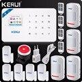 Kerui W18 inalámbrico Wifi GSM Android IOS APP Control LCD GSM SMS sistema de alarma antirrobo de seguridad para el hogar de alarma hogar Inteligente