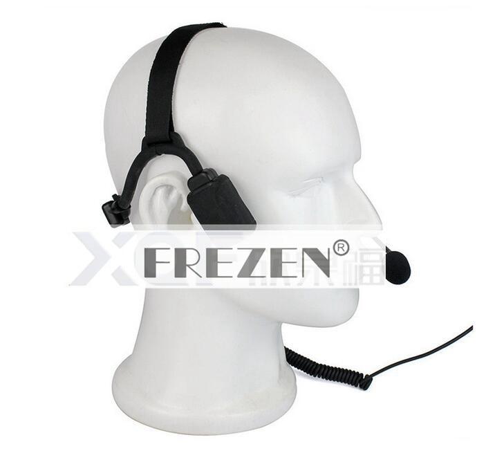 Купить с кэшбэком Walkie talkie Military Bone Conduction Tactical Headset boom Mic For Kenwood Portable Radio Baofeng UV-5R BF-888S UV-82 GT-3