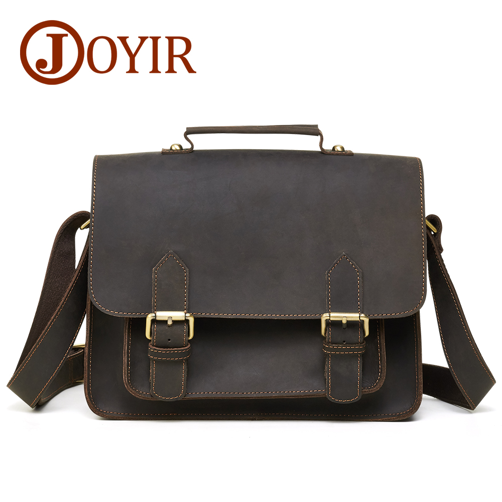 JOYIR Genuine Leather Men Bag Messenger Bags Vintgae Zipper Casual Flap Shoulder Bags for Men Crossbody Bag Leather Handbags mva genuine leather men s messenger bag men bag leather male flap small zipper casual shoulder crossbody bags for men bolsas