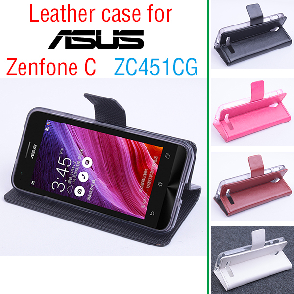 the best attitude 70feb 4d9cc For ASUS Zenfone C ZC451CG Case Cover With Wallet , Leather Case + ...