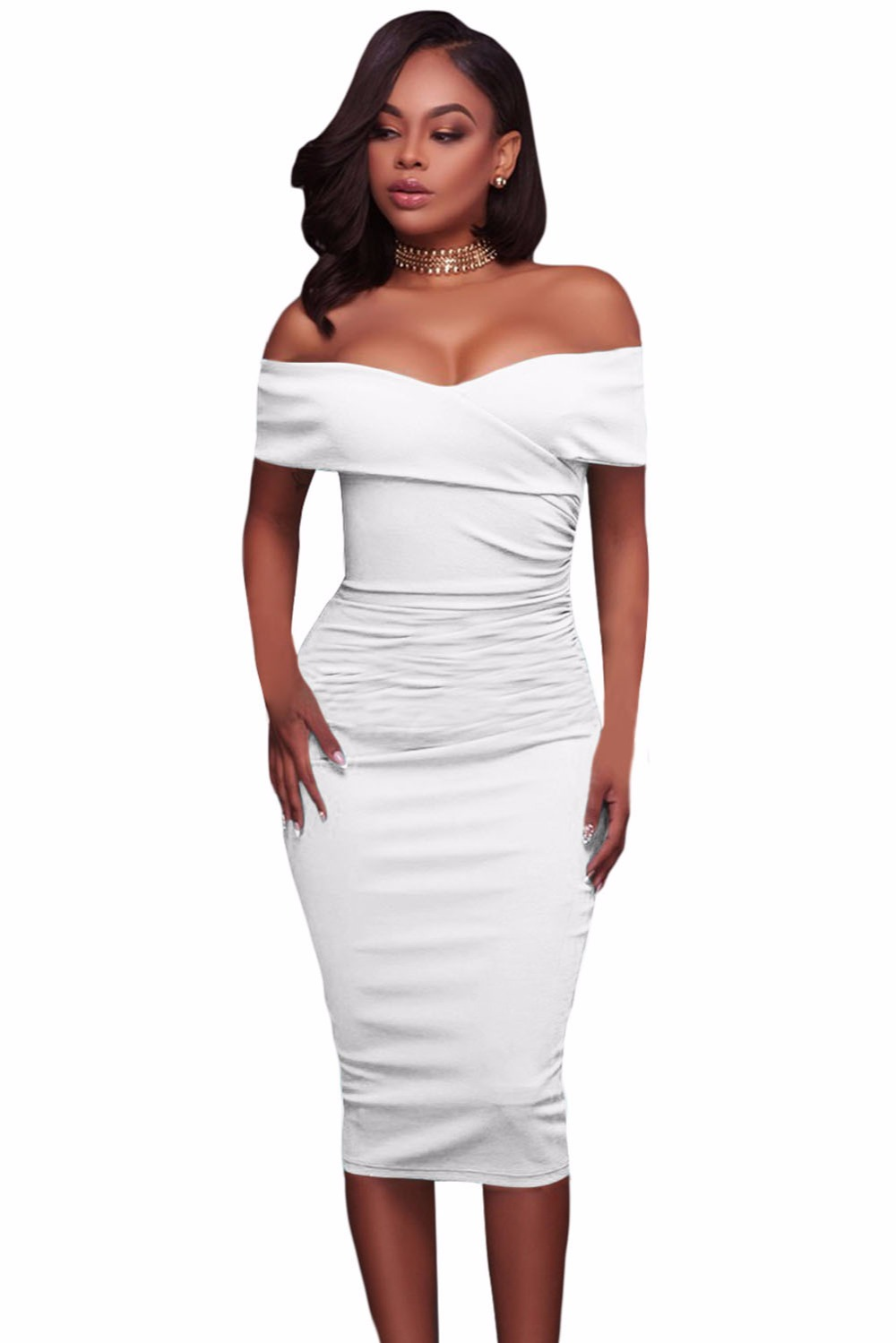White-Ruched-Off-Shoulder-Bodycon-Midi-Dress-LC61507-1-1