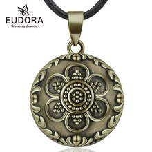 Eudora 20mm Copper Flower Ball Harmony Bola Pendant Necklace Chime Balls for Pregnancy Women Baby Vintage Jewelry N14NB344