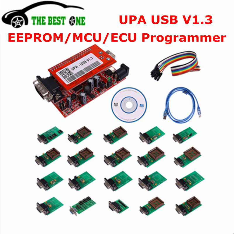 Цена за 2017 новые V2015 УПА USB программист V1.3 Поддержка NEC УПА USB адаптер ЭКЮ Чип Tunning UUSP UPA-USB 1.3 полный набор EEPROM Flasher