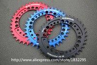 Fouriers CNC Bike Pojedynczy Łańcuch Pierścień 34 T 36 T Rowerów Chainrings P.C.D 104 owalny Kształt Kompatybilny Dla S h i m a n o/pierścień łańcucha