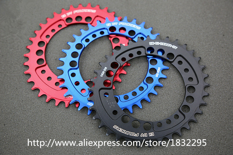 Fouriers CNC Bike Single Chain Ring 34T 36T Bicycle Chainrings P.C.D 104 Oval Shape Comp ...