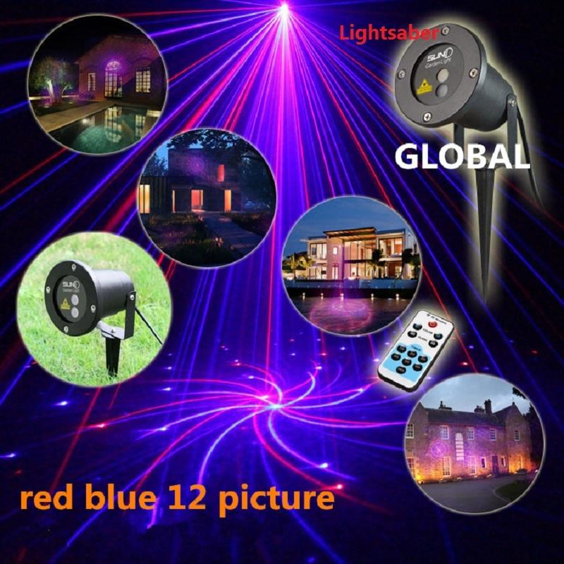 NEW Xmas LED Laser Light Lamp Waterproof Garden Sky Star Firefly Stage Laser  Lighting For Outdoor Christmas Light Projector