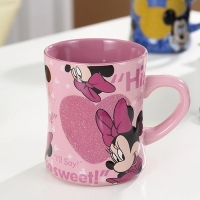 Cute cartoon tigger milk coffee mug mark's cup mickey Minnie lovers ceramic mouthwash mug cup for birthday gift