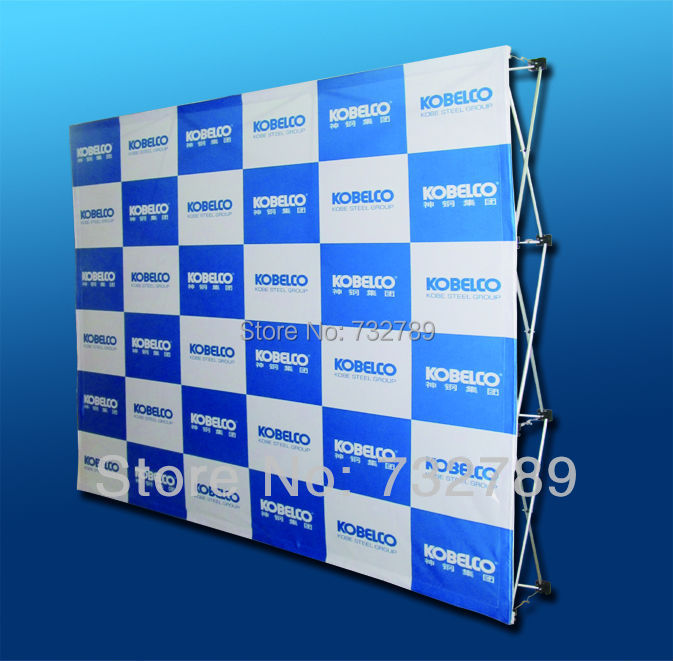 Fabric Pop Up Exhibition Stands : Ft trade show velcro pop up display banner stand
