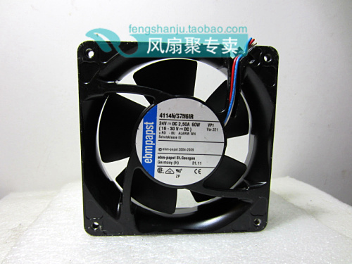 Original German ebmpapst 12cm 12038 4114N/37H6IR 24V 60W Cooling fan original ebmpapst w2g107 ad03 13 12cm 12038 24v3 3w full metal cooling fan