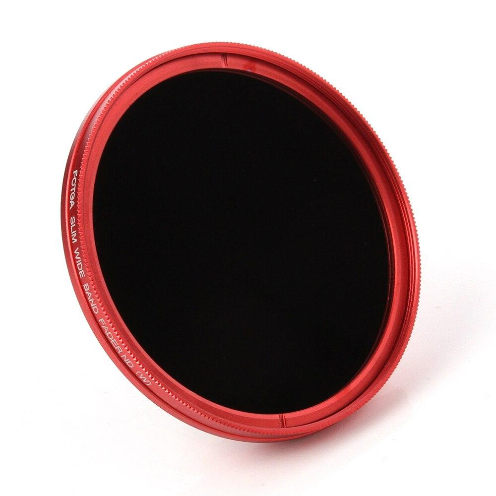 FOTGA Ultra Slim 72mm Fader Einstellbare Variable ND Objektiv-filter ND2 ND8 ND400 Rot