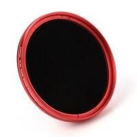 FOTGA Ultra İnce 72mm Fader Ayarlanabilir Değişken ND Lens Filtre ND2 ND8 ND400 Kırmızı