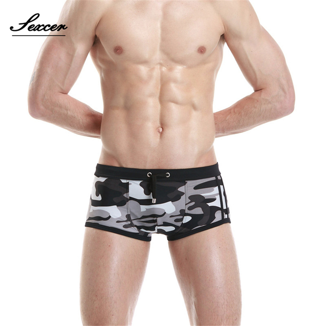 266139c713210 Hot Swimwear Men Breathable Camouflage Men's Swimsuits Swim Trunks Boxer  Briefs Sunga Suits Man Maillot De