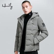 HMILY Winter Jacket Men Keep Warm Fleece Zipper Thicken New Arrival Mens Parkas Male European Hoodies Parka Coat