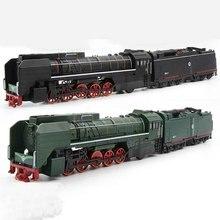 หนึ่งขนาดไอน้ำรถไฟหัวรถจักรดีเซลรุ่นของเล่นรถดึงกลับเสียงรุ่นของเล่นเด็ก