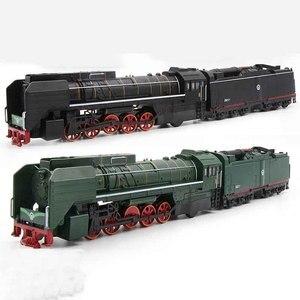 Image 1 - Locomotive Diesel, jouet en alliage de taille unique, voitures, son, léger, jouet pour enfants
