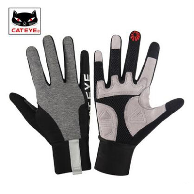 Cycling font b Gloves b font CATEYE bicycle finger men and women riding bike touch screen