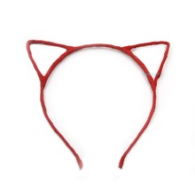 10pcs Red Fashion Hair Accessories Cute Cat Ear Band Small Headband for Women Styling Tools Headwear