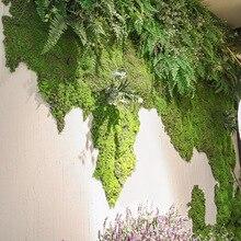 Simulation Moos Rasen Szene Fenster Dekoration Simulation Moss Grüne Pflanze Wand Baumwolle Moss kunstrasen garten shop deco