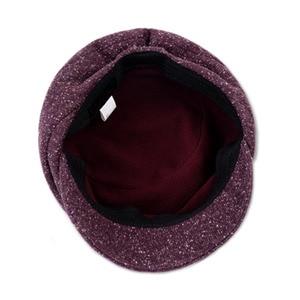 Image 5 - FS Women French Wool Felt Beret Hat Flat Cap Autumn Winter Female Vintage Caps Fedora Chapeu Feminino Boina Mujer Invierno