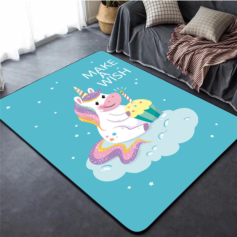Huis Kids Rugs Children Bedroom Rug Girls Boys Floor Mats Unicorn Animals Design Mat Tapijten Thinkinganglicans Org Uk