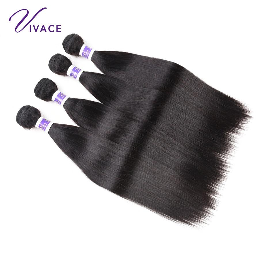 VIVACE Hair Brazilian Straight Mänskliga Hårvävspapper Human Hair - Mänskligt hår (svart) - Foto 5