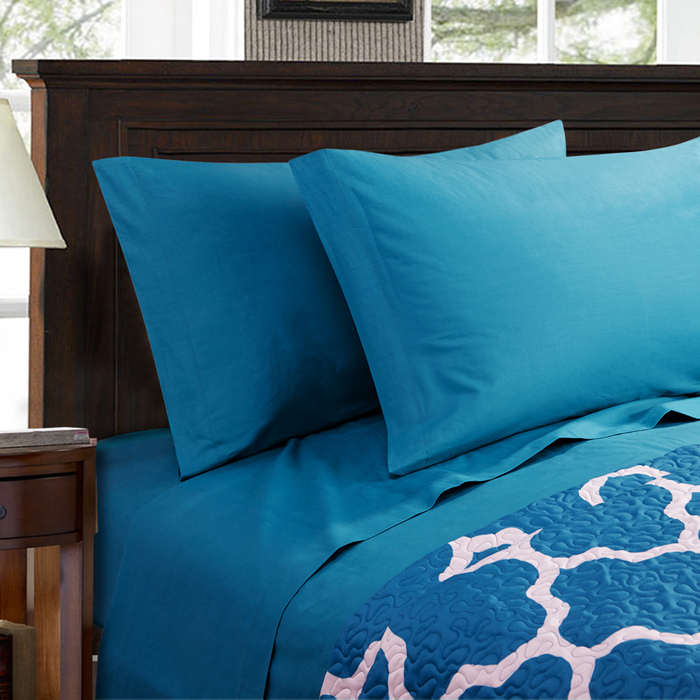 Bedding Set King Size Printed Solid Blue Mattress Cover Bed Cover Duvet  Cover King Size Comforter