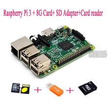 Raspberry Pi 3 + 8G Card+ SD Adapter+Card reader Raspberry Kit