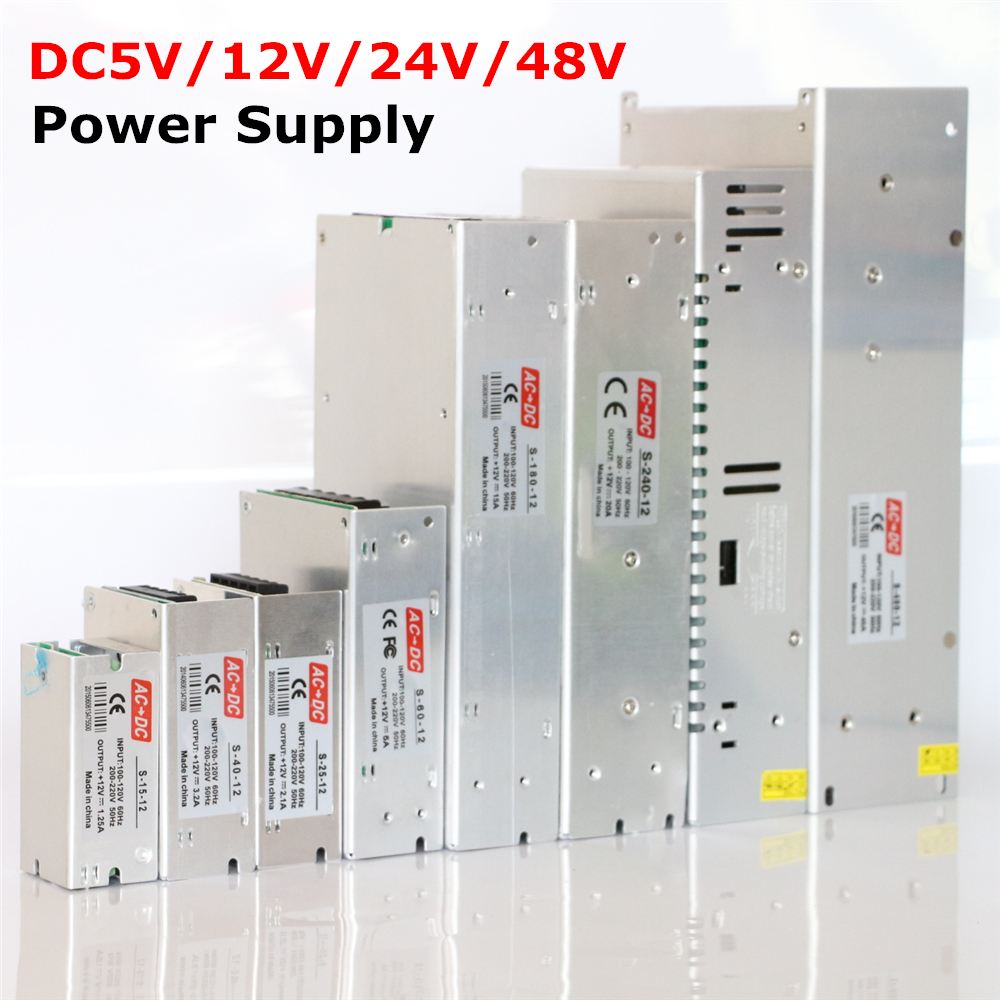 Hot Sale AC85-265V 110V 220V to <font><b>DC5V</b></font> 12V 24V <font><b>48V</b></font> 1A 2A 3A 4A 5A 6A 8A 10A 15A 20A 30A 40A CCTV / LED Strip Power Supply Adapter image