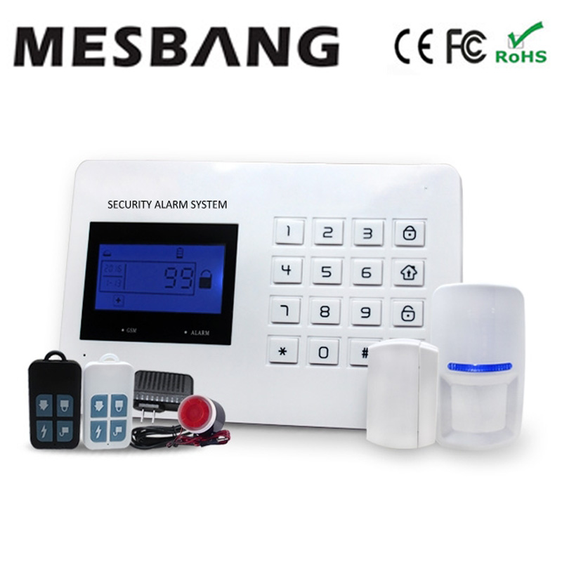 GSM alarm system PSTN alarm system home security alarm system with door detector pir sensor English Spanish Russianoption ситников ю кот повесть