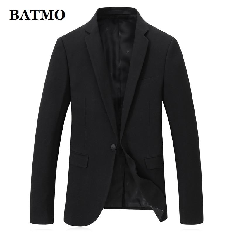 BATMO 2019 New Arrival High Quality Casual Black Blazer Men,men's Casual Black Jackets,plus-size M-4XL 9825