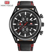 fc28ad5bb35 Relogio masculino Marca de Luxo Mini Focus Sport Chronograph Relógios Homens  Banda Multifunções À Prova D
