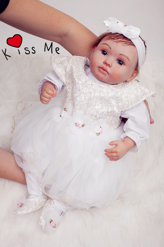 20 inch Soft Silicone Reborn Baby Doll Toys Lifelike Newborn Girl Baby-Reborn Doll Kid Birthday Gift Princess Dolls Collection npk collection 22 inch lifelike reborn dolls toys silicone newborn baby girl fashion doll smiling princess xmas gift