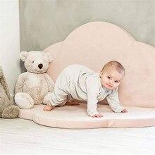 Детский спортивный коврик для детских игр, коврики с облаками, игровой коврик для ползания, ковер для детей, игровой коврик, складной круглый декор для детской комнаты