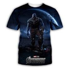 Thanos Summer Short Sleeve T-shirt Avenger Endgame Dobby In Printed Tees Women Casual Iron Man Top  T Shirts Super Hero