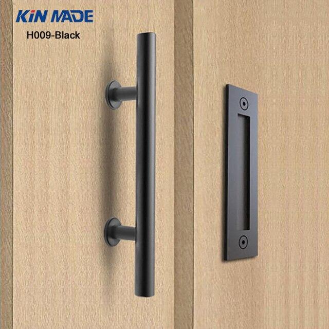 KIN MADE Black stainless steel Sliding Barn Door Handle Wood Door Flush Pull & KIN MADE Black stainless steel Sliding Barn Door Handle Wood Door ...