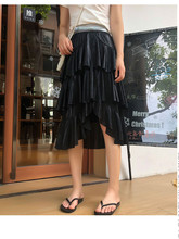 JUJULAND 2019 New Arrival Skirts Women Summer Ruffle High Waist Skirt Ladies Slim Bottoms Saias 8162 8162 acbjo new tab cof ic module