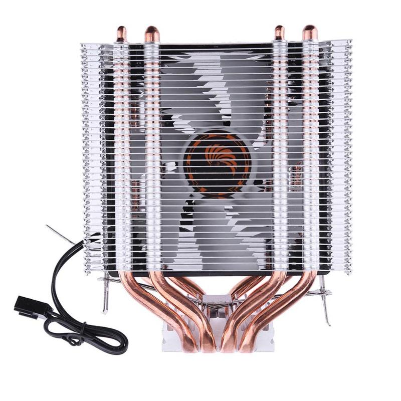 ALLOYSEED Heatpipe Radiator 3Pin 12V Heat Pipe CPU Cooler  Fan Cooling Cooler Heatsink Fan for Intel LGA1150 AMD 2016 new ultra queit hydro 3pin fan cpu cooler heatsink for intel for amd z001 drop shipping