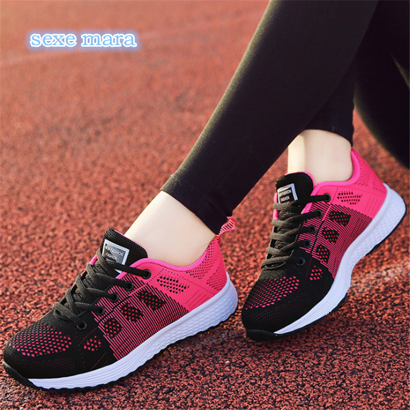 NEW Sneakers women Running shoes women sport shoes women gym trail free run sneakers for girls Breathable Mesh Trainers Jogging